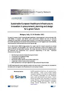 Sustainable European Healthcare Infrastructure: innovation in procurement, planning and design for a green future