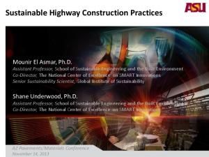 Sustainable Highway Construction Practices