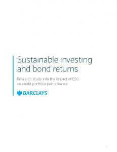 Sustainable investing and bond returns