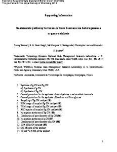 Sustainable pathway to furanics from biomass via heterogeneous organo-catalysis