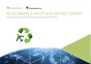 SUSTAINABLE PROPULSION FACT SHEET. Helping aviation achieve its green potential
