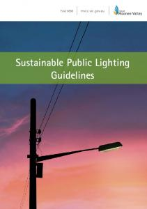 Sustainable Public Lighting Guidelines