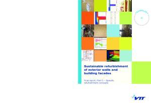 Sustainable refurbishment of exterior walls and building facades. Final report, Part C Specific refurbishment concepts