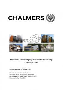 Sustainable renovation projects of residential buildings