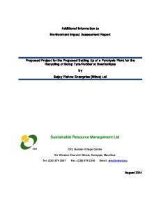 Sustainable Resource Management Ltd
