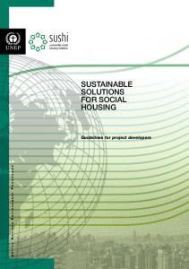 SUSTAINABLE SOLUTIONS FOR SOCIAL HOUSING