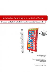 Sustainable Sourcing in a context of Sugar: