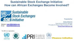 Sustainable Stock Exchange Initiative: How can African Exchanges Become Involved?