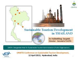 Sustainable Tourism Development in THAILAND