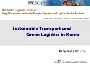 Sustainable Transport and Green Logistics in Korea