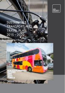 SUSTAINABLE TRANSPORT AND TRAVEL PLAN