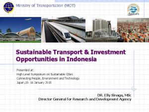 Sustainable Transport & Investment Opportunities in Indonesia