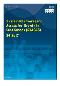 Sustainable Travel and Access for Growth in East Sussex (STAGES)