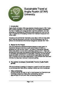 Sustainable Travel at Anglia Ruskin (STAR) University