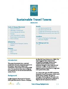 Sustainable Travel Towns