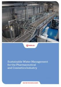 Sustainable Water Management for the Pharmaceutical and Cosmetics Industry