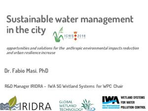 Sustainable water management in the city