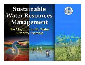 Sustainable Water Resources Management. The Clayton County Water Authority Example
