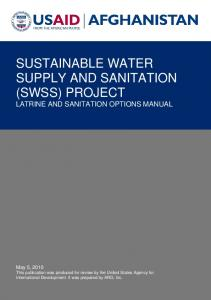 SUSTAINABLE WATER SUPPLY AND SANITATION (SWSS) PROJECT LATRINE AND SANITATION OPTIONS MANUAL