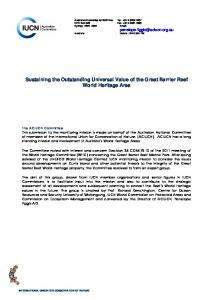 Sustaining the Outstanding Universal Value of the Great Barrier Reef World Heritage Area