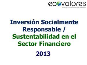 Sustentabilidad en el Sector Financiero