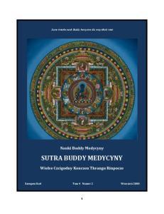 SUTRA BUDDY MEDYCYNY