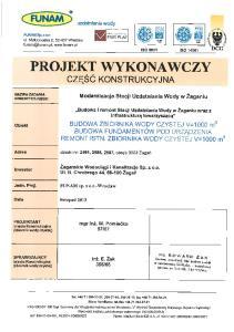 SUW aga - Projekt Wykonawczy cz. konstrukcyjna zbiornik wody czystej, fundamenty pod urzdzenia SPIS TRECI