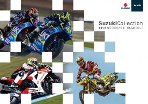 SuzukiCollection 2016 motorsport catalogue