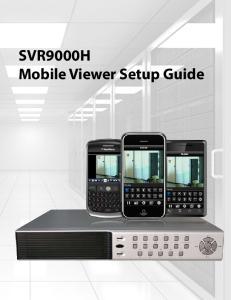 SVR9000H Mobile Viewer Setup Guide