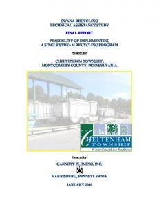 SWANA RECYCLING TECHNICAL ASSISTANCE STUDY FINAL REPORT FEASIBILITY OF IMPLEMENTING A SINGLE STREAM RECYCLING PROGRAM