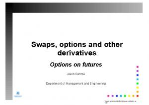 Swaps, options and other derivatives