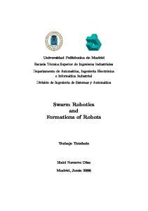 Swarm Robotics and Formations of Robots