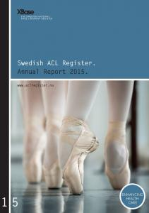 Swedish ACL Register. Annual Report 2015