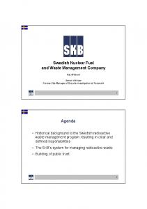 Swedish Nuclear Fuel and Waste Management Company