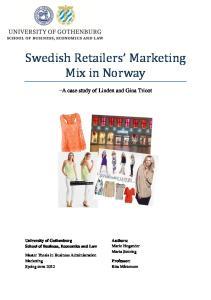 Swedish Retailers Marketing Mix in Norway