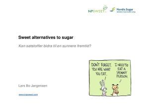 Sweet alternatives to sugar