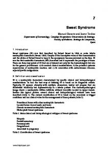 Sweet Syndrome. 1. Introduction. 2. Definition and classification