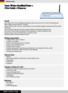Sweex Wireless BroadBand-Router + 4-Port-Switch + Printserver