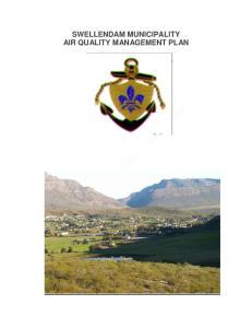 SWELLENDAM MUNICIPALITY AIR QUALITY MANAGEMENT PLAN