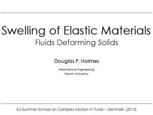 Swelling of Elastic Materials