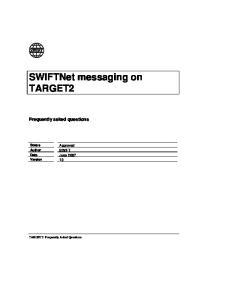 SWIFTNet messaging on TARGET2