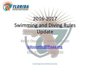 Swimming and Diving Rules Update