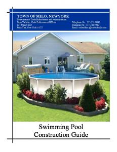 Swimming Pool Construction Guide