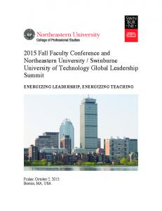 Swinburne University of Technology Global Leadership Summit