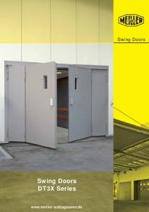Swing Doors. Swing Doors. DT3X Series