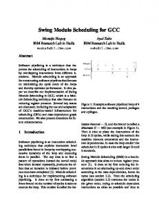 Swing Modulo Scheduling for GCC