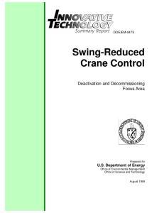Swing-Reduced Crane Control