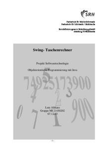 Swing- Taschenrechner
