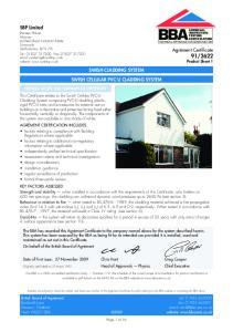 SWISH CLADDING SYSTEM SWISH CELLULAR PVC-U CLADDING SYSTEM
