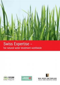 Swiss Expertise. for natural water treatment worldwide
